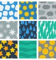 Seamless pattern of weather conditions vector