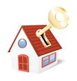 House with a golden key vector