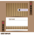 Modern wooden business-card set vector