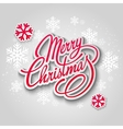 Merry christmas greeting card lettering paper vector