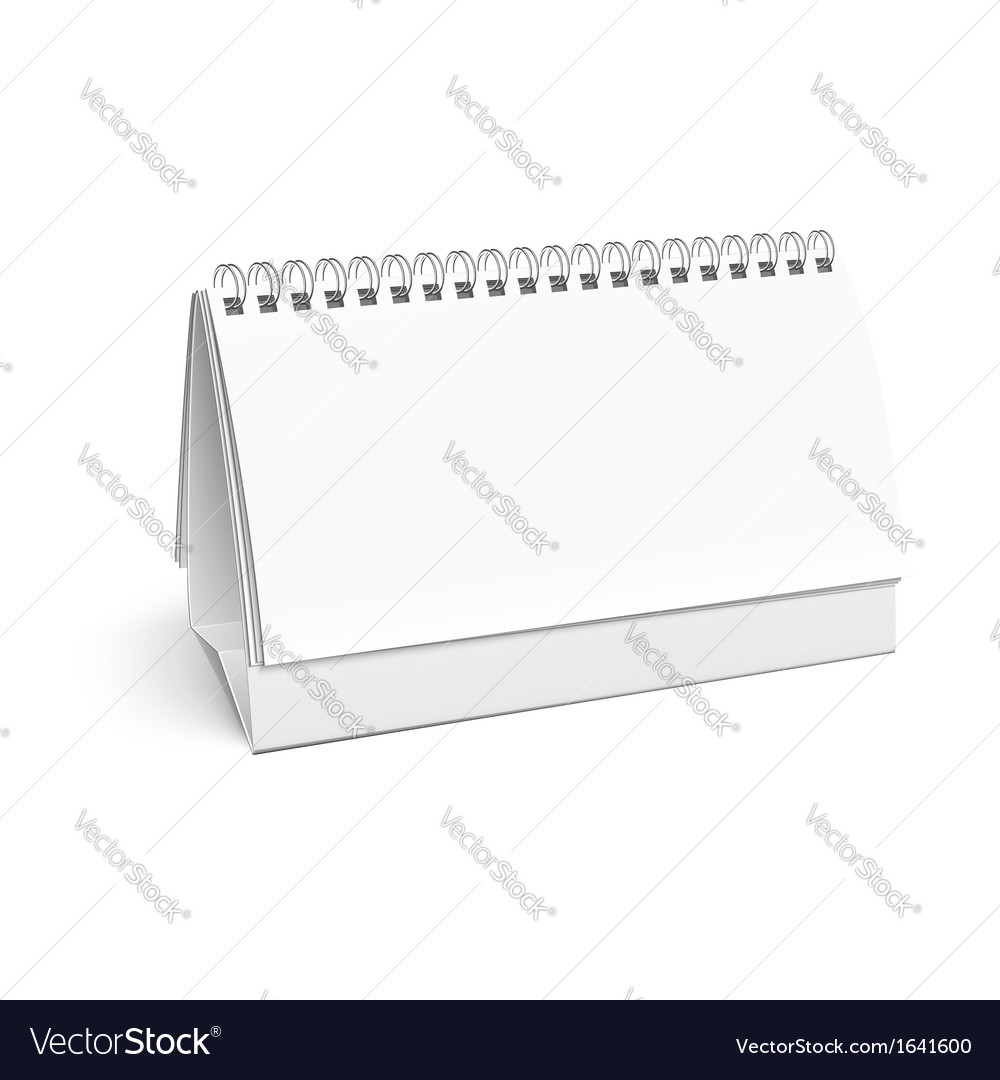 Blank paper desk spiral calendar vector   Price: 1 Credit (USD $1)