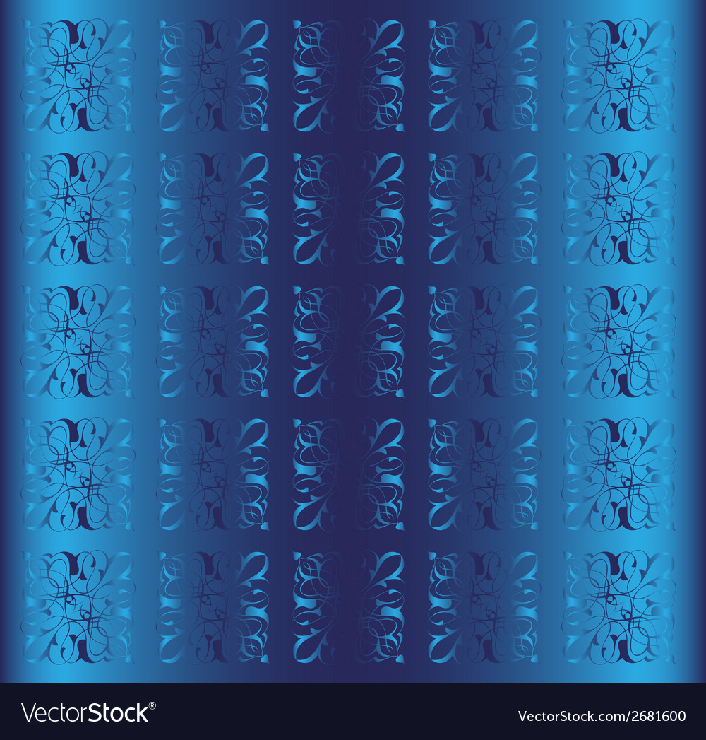 Blue background floral luxury ornamental vector | Price: 1 Credit (USD $1)