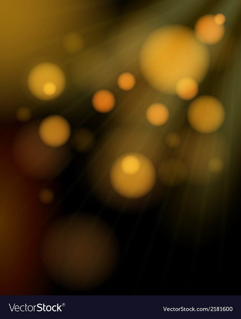 Blurred golden bubbles shimmering background vector | Price: 1 Credit (USD $1)