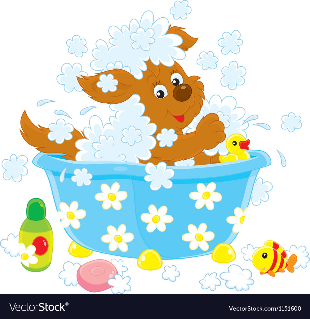 Dog bathing vector | Price: 1 Credit (USD $1)