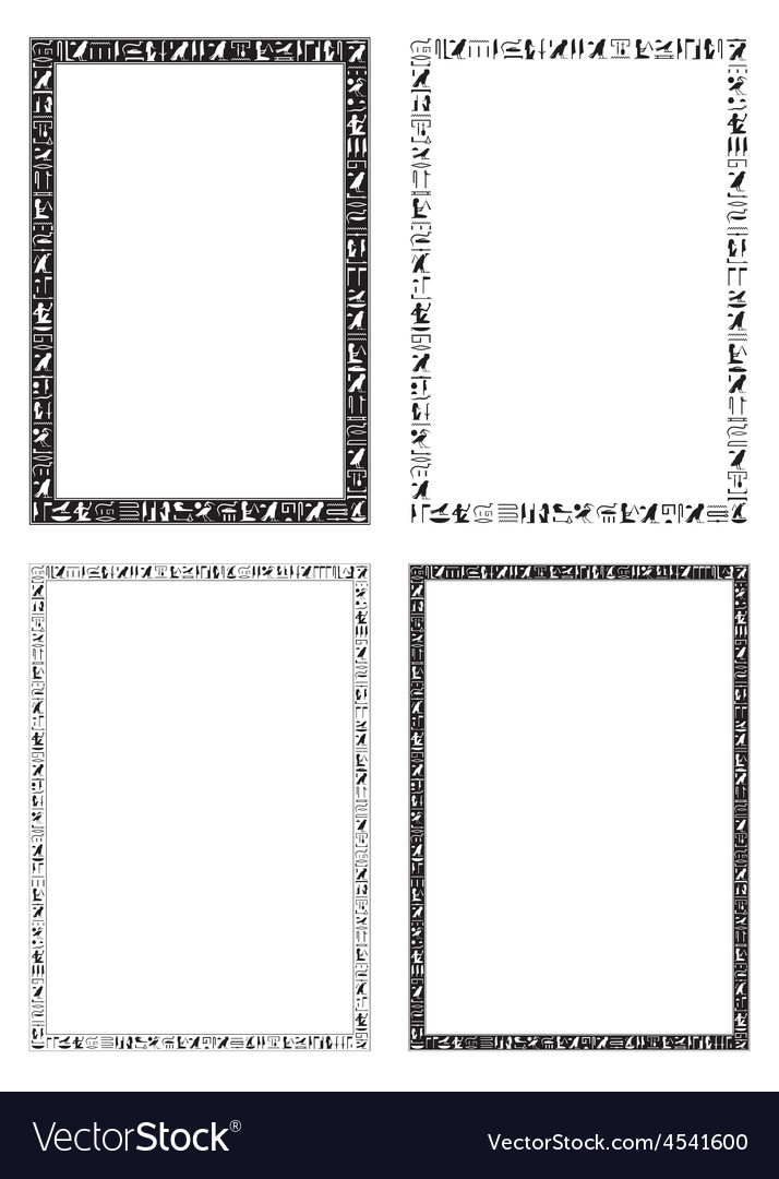 Egyptian hieroglyphic decorative frames vector | Price: 1 Credit (USD $1)