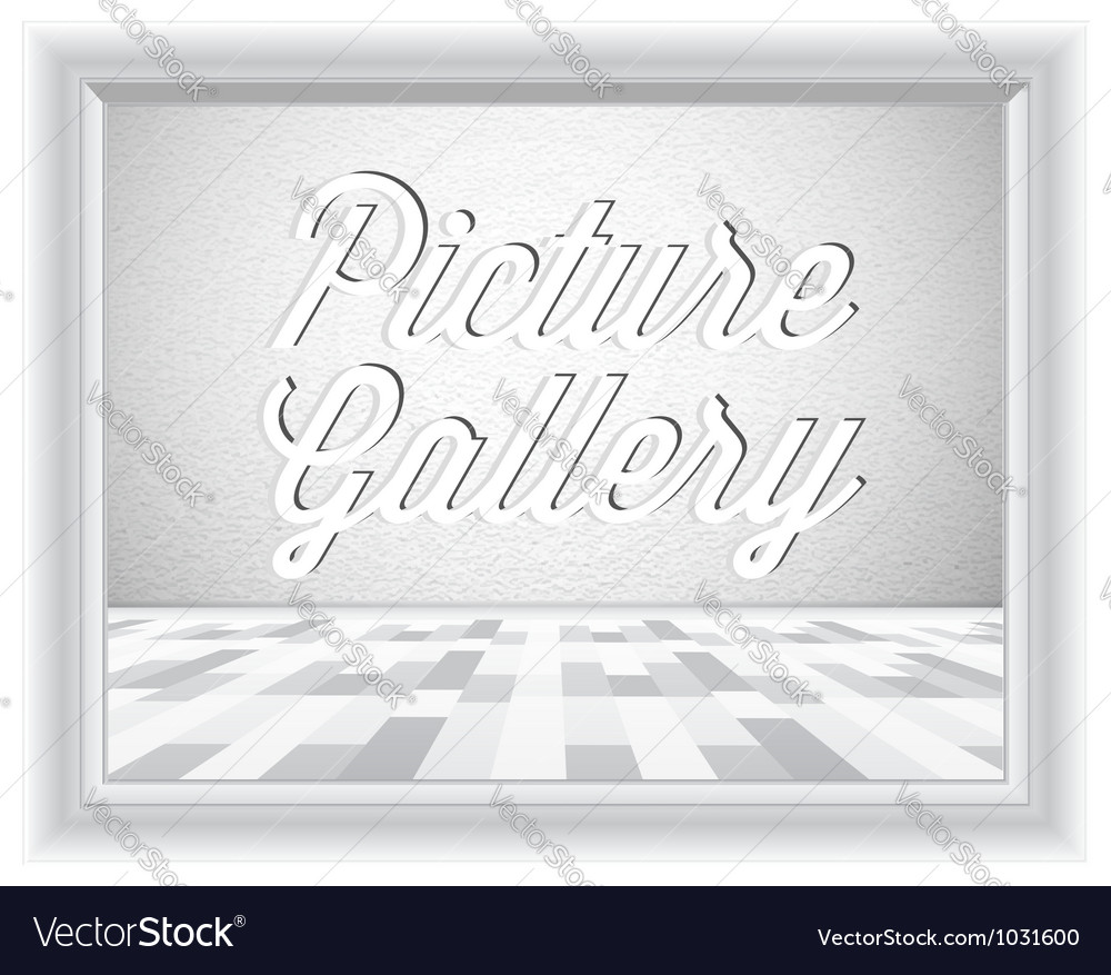 Empty gallery wall with frame vector | Price: 1 Credit (USD $1)