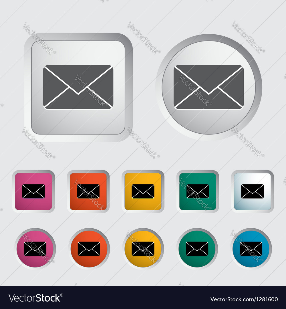 Envelope icon 2 vector | Price: 1 Credit (USD $1)