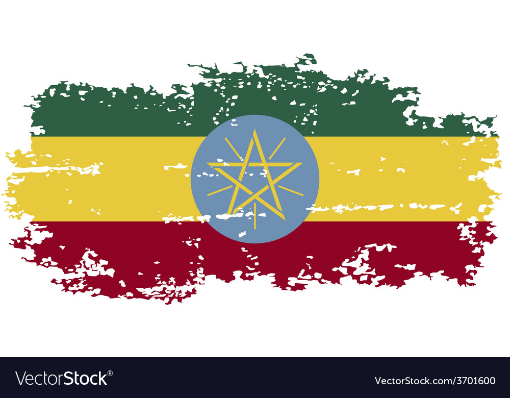 Ethiopian grunge flag vector | Price: 1 Credit (USD $1)