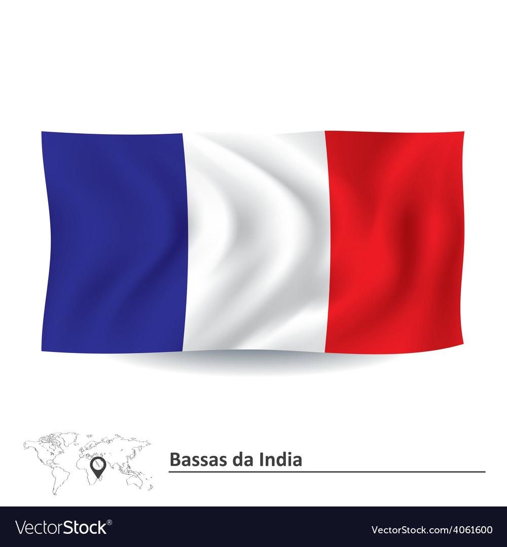 Flag of bassas da india vector | Price: 1 Credit (USD $1)