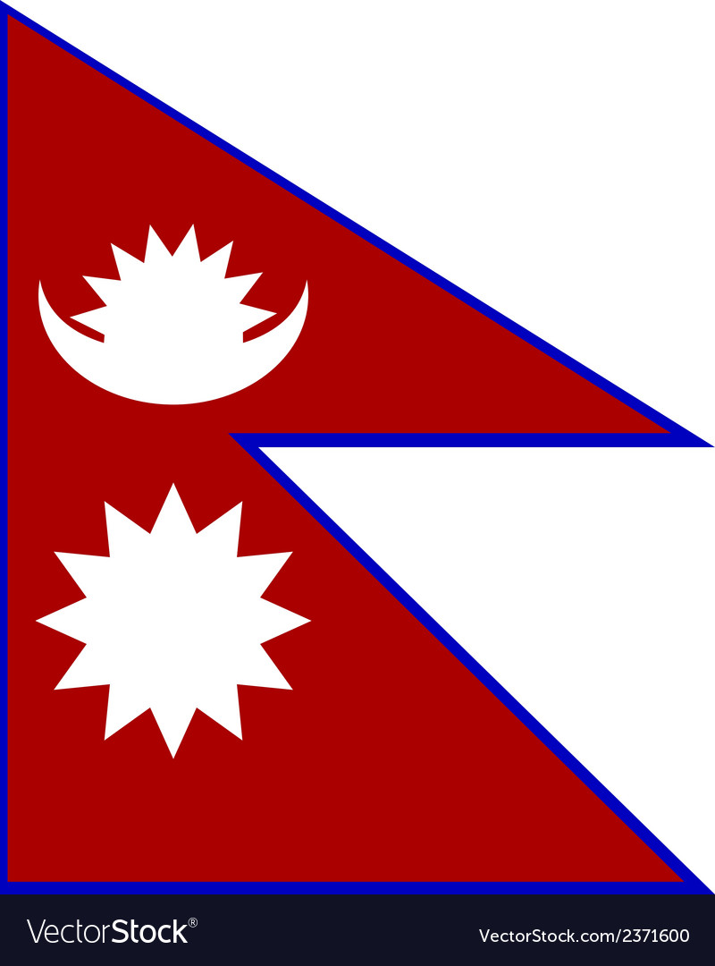 Flag of nepal vector | Price: 1 Credit (USD $1)