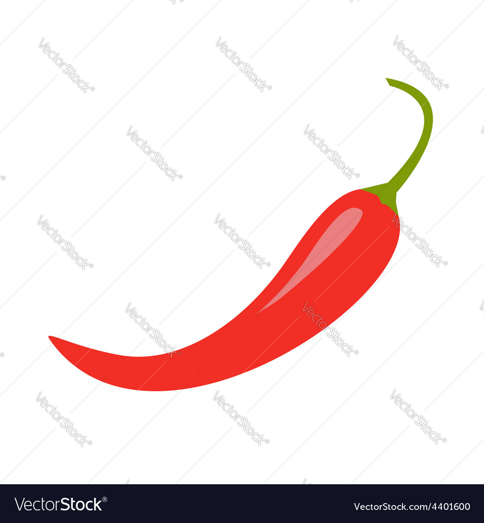 Hot red chili jalapeno pepper icon isolated vector | Price: 1 Credit (USD $1)