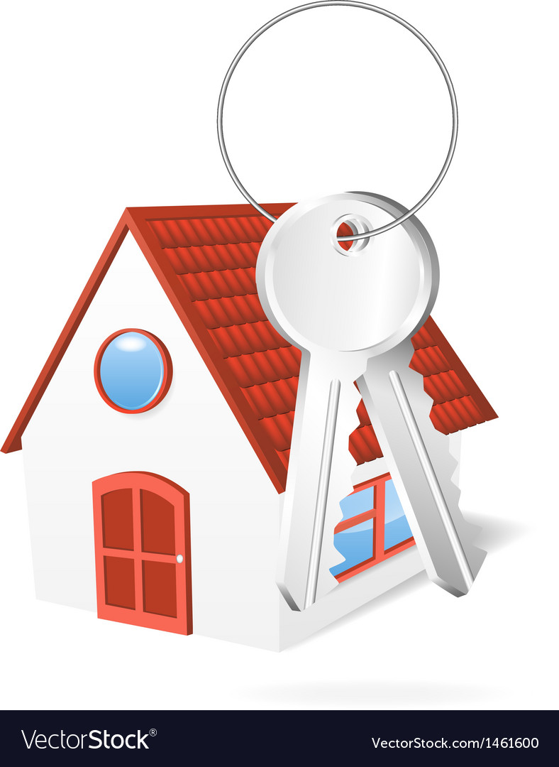House with a keys vector | Price: 1 Credit (USD $1)