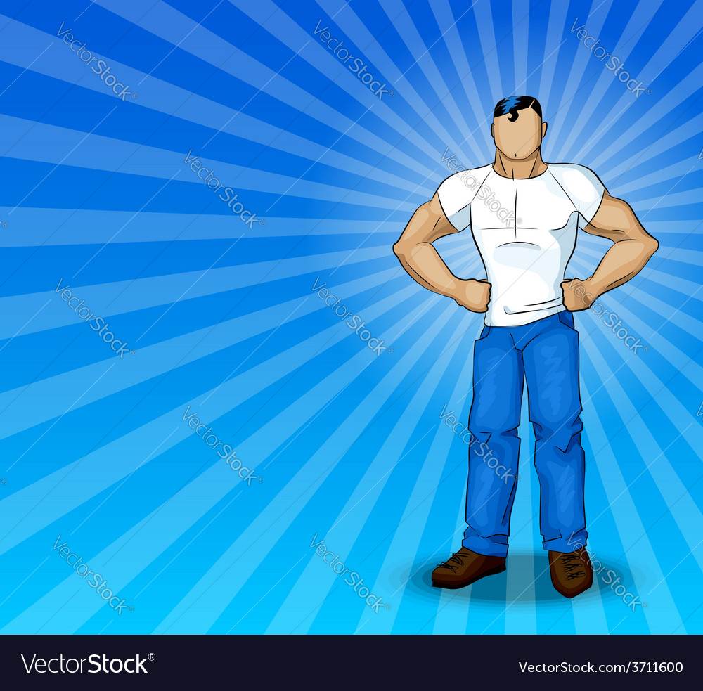 Modern superhero vector | Price: 1 Credit (USD $1)