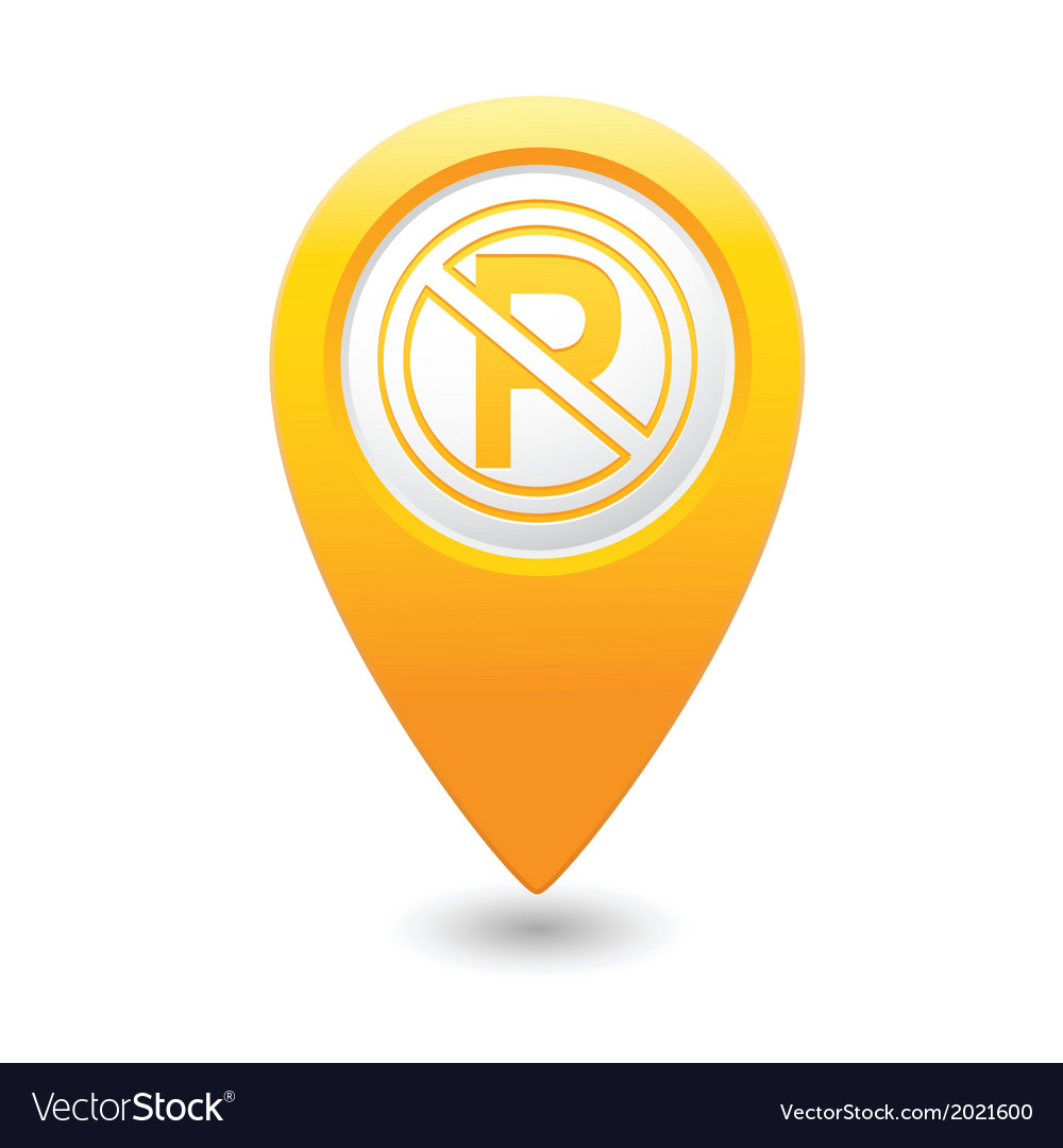 No parking symbol map pointer yellow vector   Price: 1 Credit (USD $1)