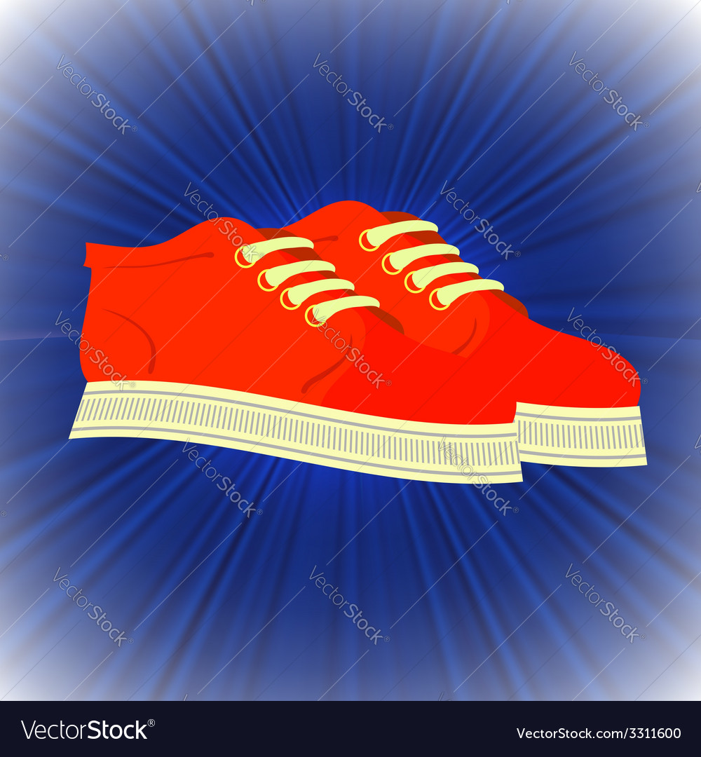 Red shoes vector | Price: 1 Credit (USD $1)