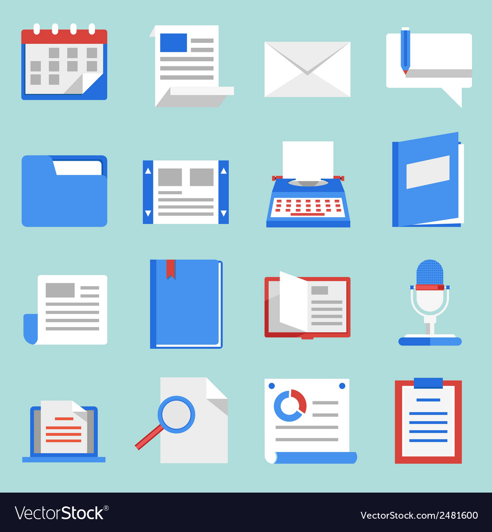 Set of flat icons for web and mobile applications vector | Price: 1 Credit (USD $1)