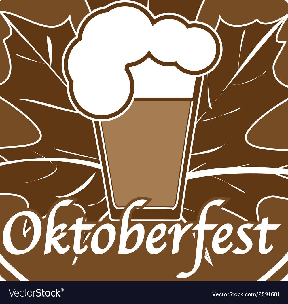 Brown oktoberfest stamp vector | Price: 1 Credit (USD $1)