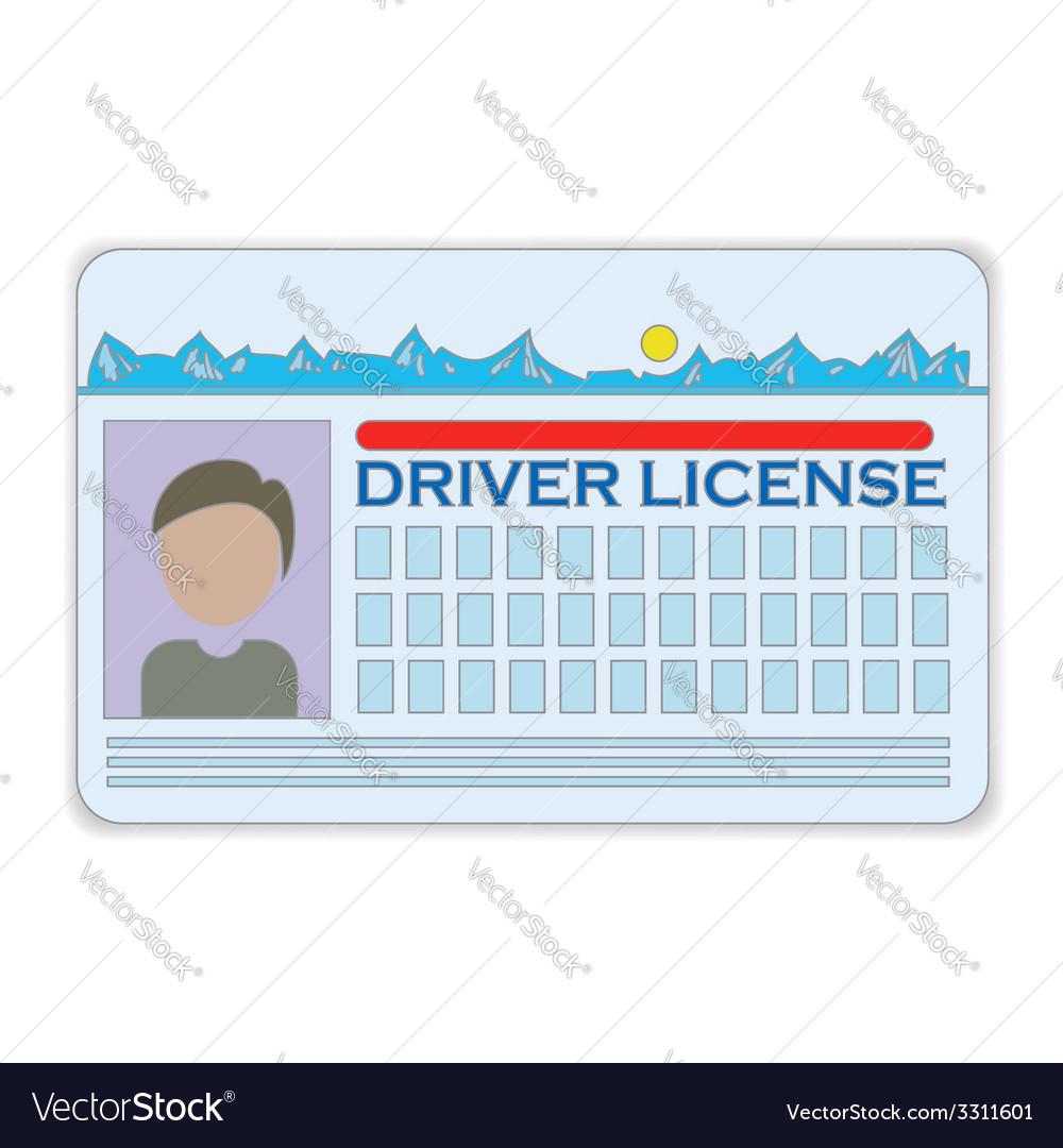Driver license vector | Price: 1 Credit (USD $1)
