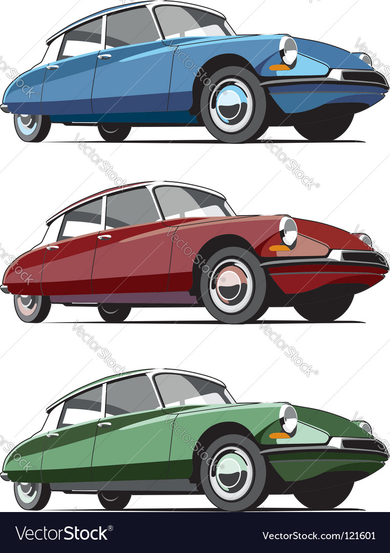 French cars icon set vector | Price: 1 Credit (USD $1)