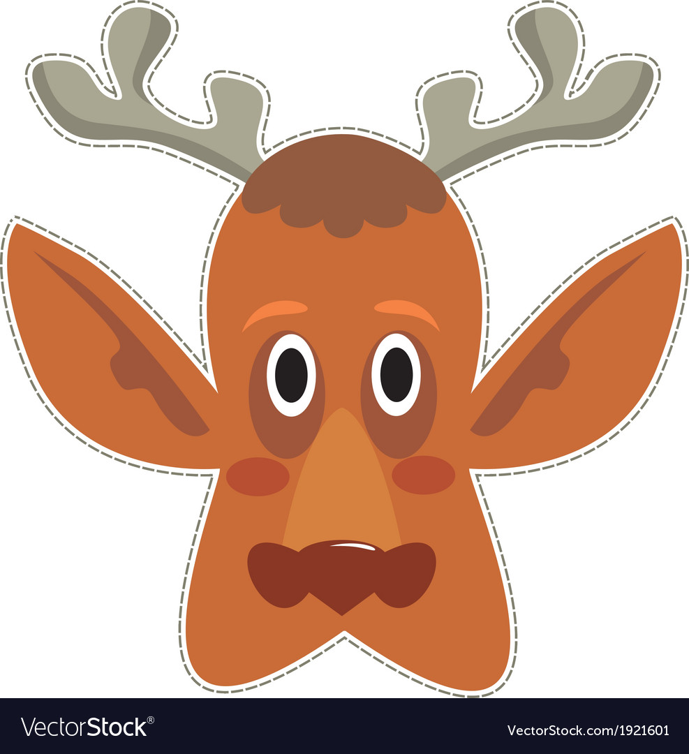 Mask deer vector | Price: 1 Credit (USD $1)