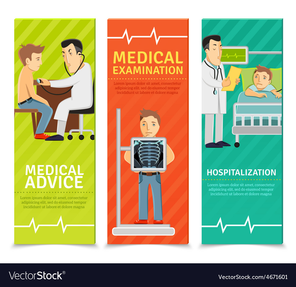 Medical examination banners vector | Price: 1 Credit (USD $1)
