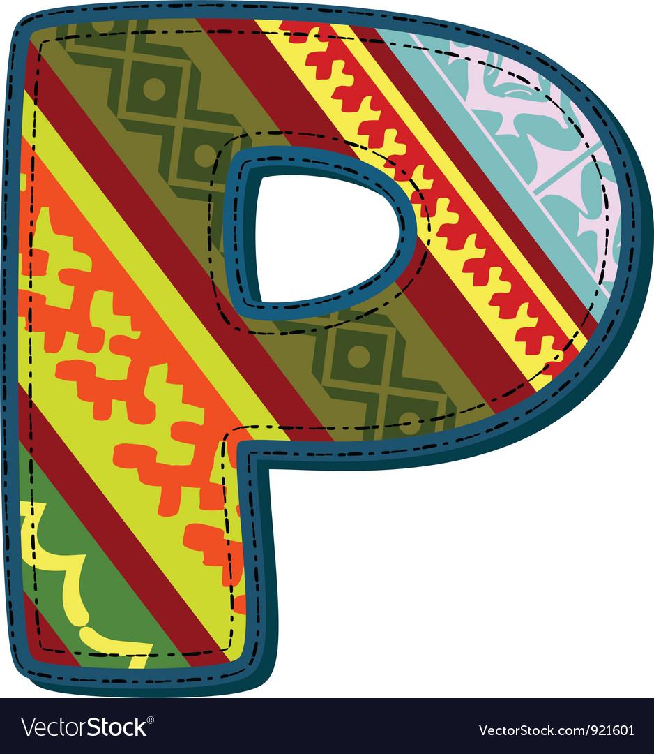 Ornament p retro vector   Price: 1 Credit (USD $1)