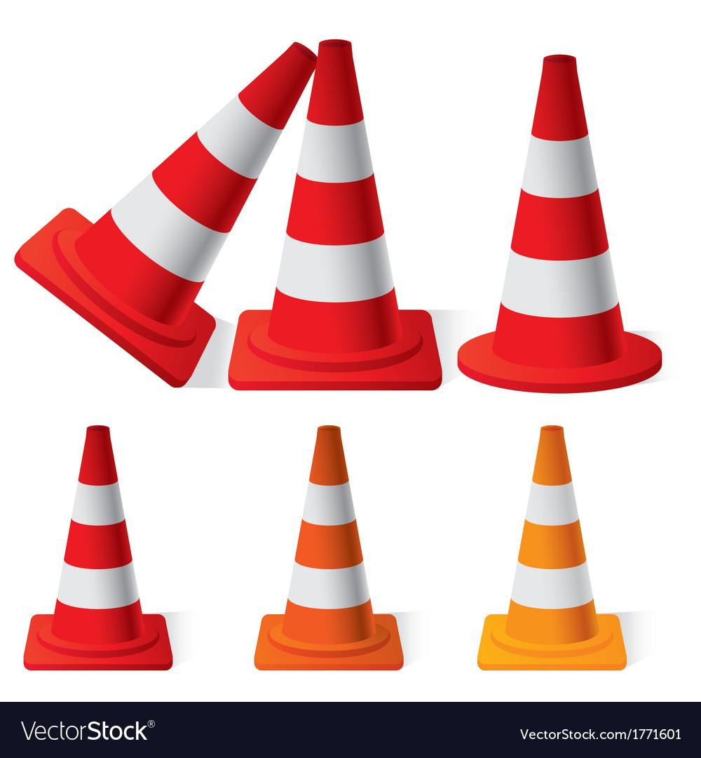 Safety traffic cones vector | Price: 1 Credit (USD $1)