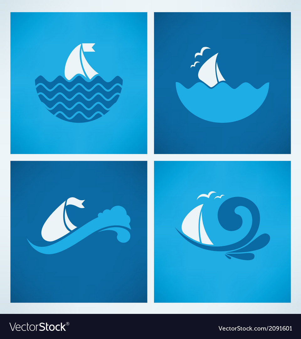 Sea emblems vector | Price: 1 Credit (USD $1)