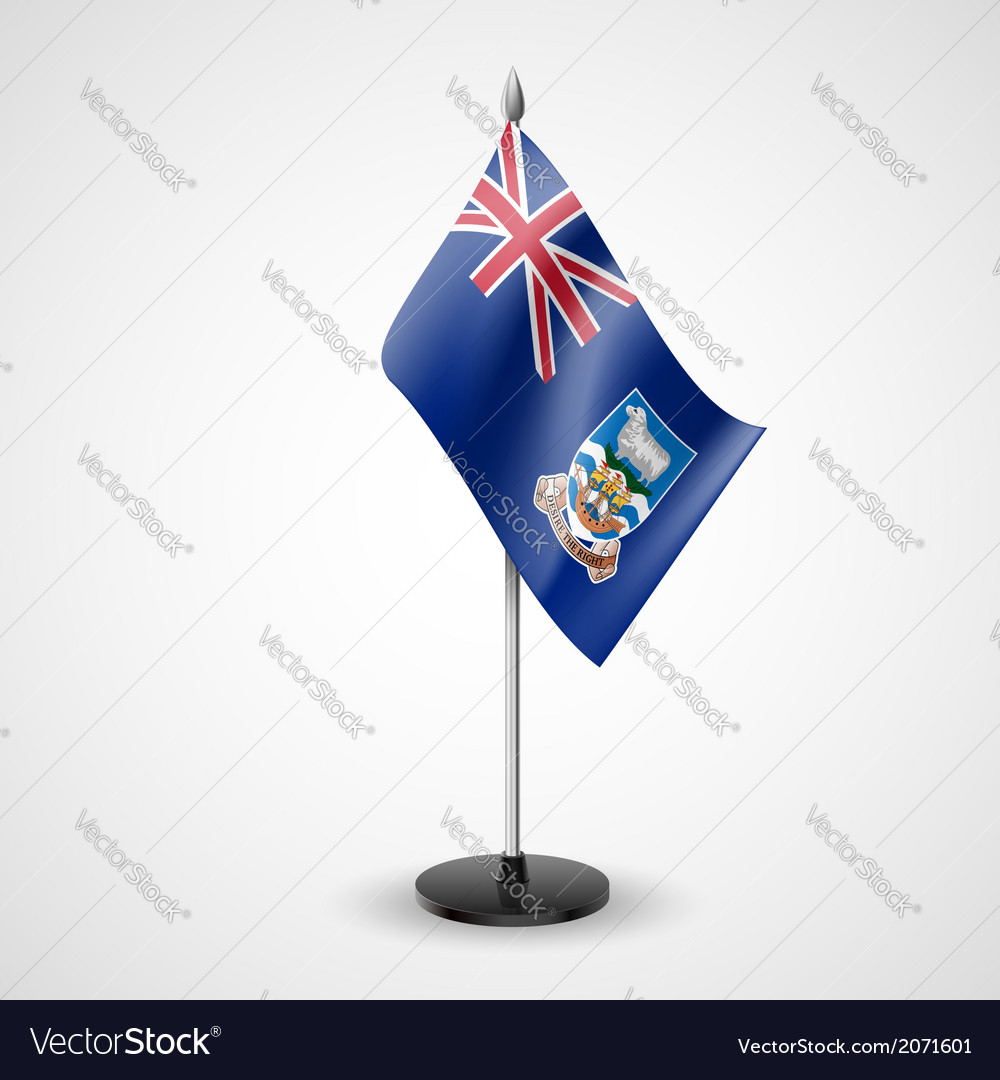 Table flag of falkland islands vector | Price: 1 Credit (USD $1)