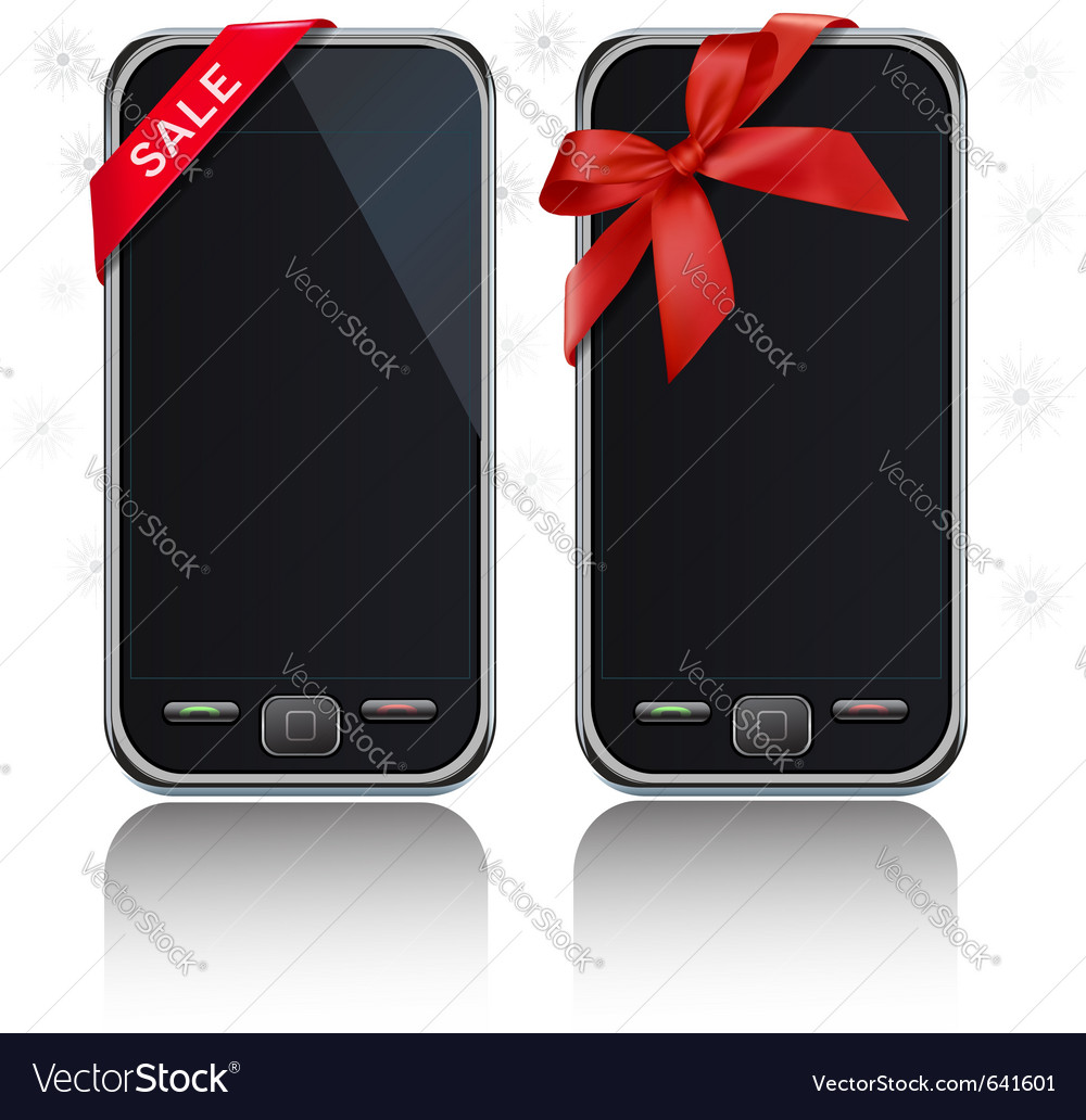 Touch-screen mobile phones vector | Price: 1 Credit (USD $1)