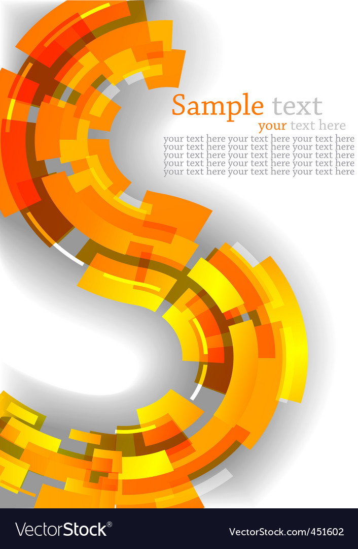 Abstract background with orange line vector | Price: 1 Credit (USD $1)