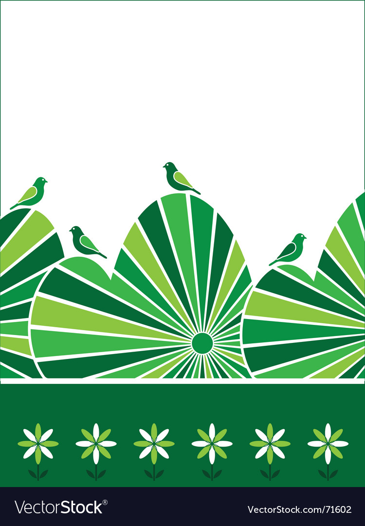Birds perched on hedge vector   Price: 1 Credit (USD $1)