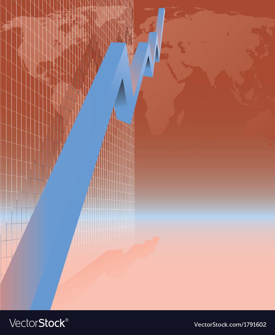 Blue arrow graph vector | Price: 1 Credit (USD $1)