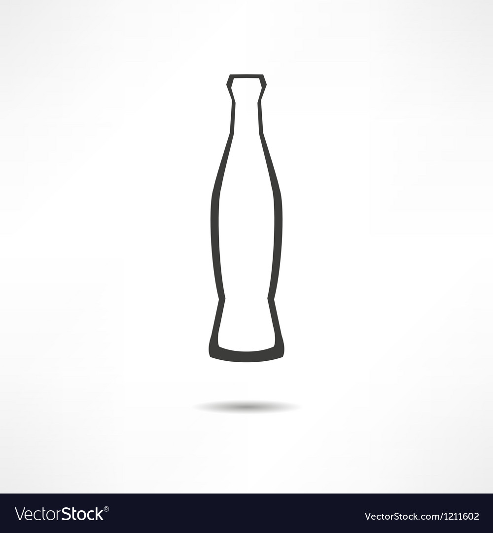 Bottle with cola icon vector | Price: 1 Credit (USD $1)