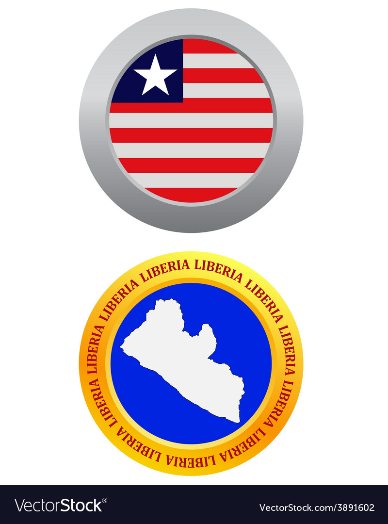 Button as a symbol liberia vector | Price: 1 Credit (USD $1)