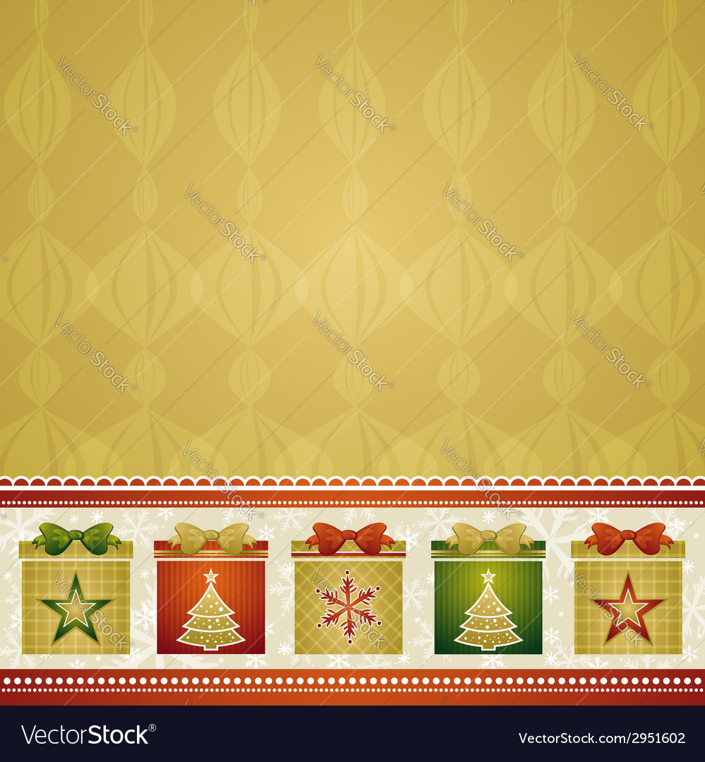 Christmas background with gifts vector | Price: 1 Credit (USD $1)