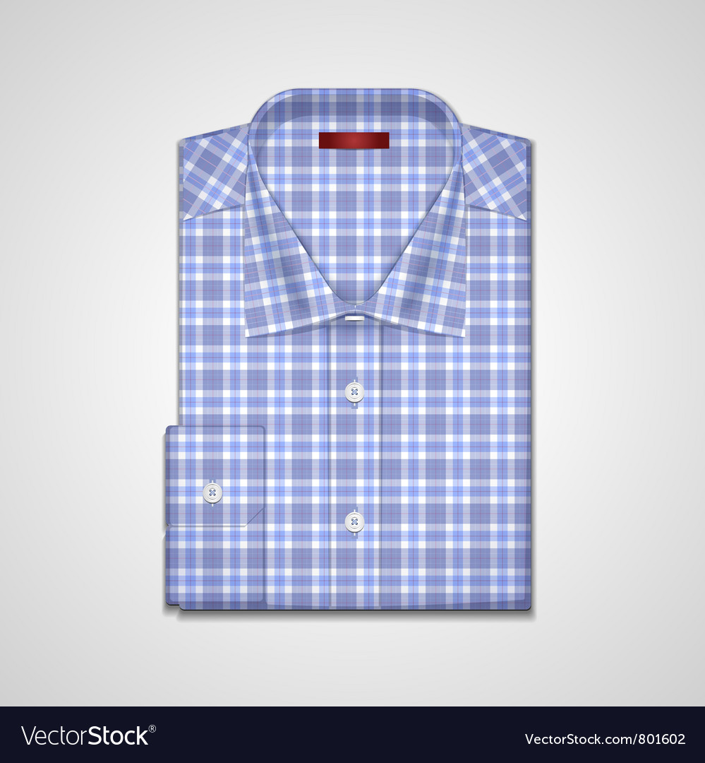Classic plaid shirt vector