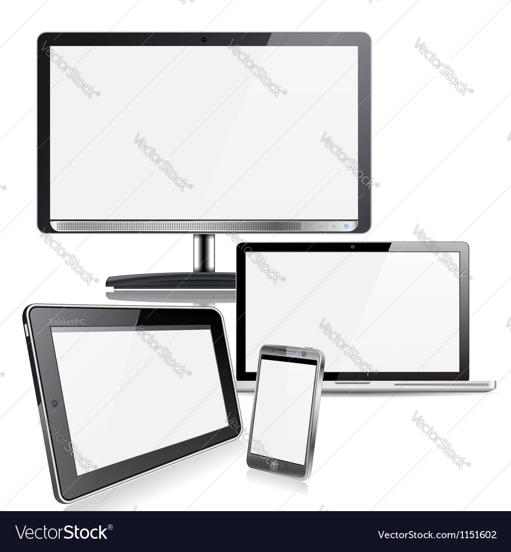 Computer devices vector | Price: 1 Credit (USD $1)