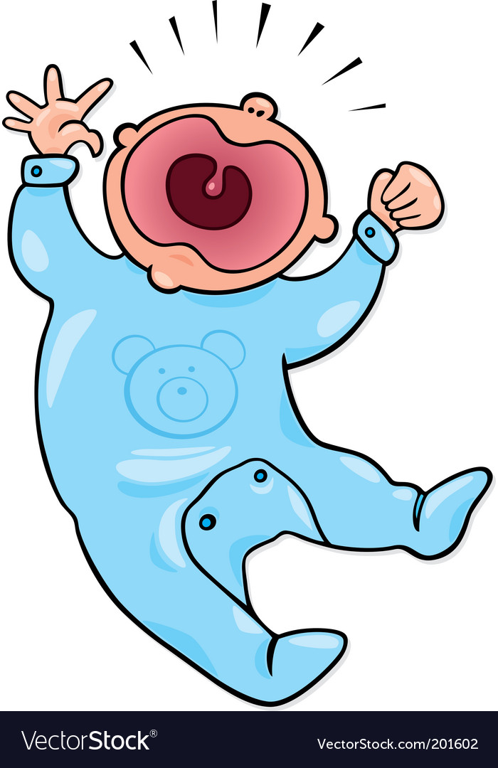Crying baby vector | Price: 1 Credit (USD $1)