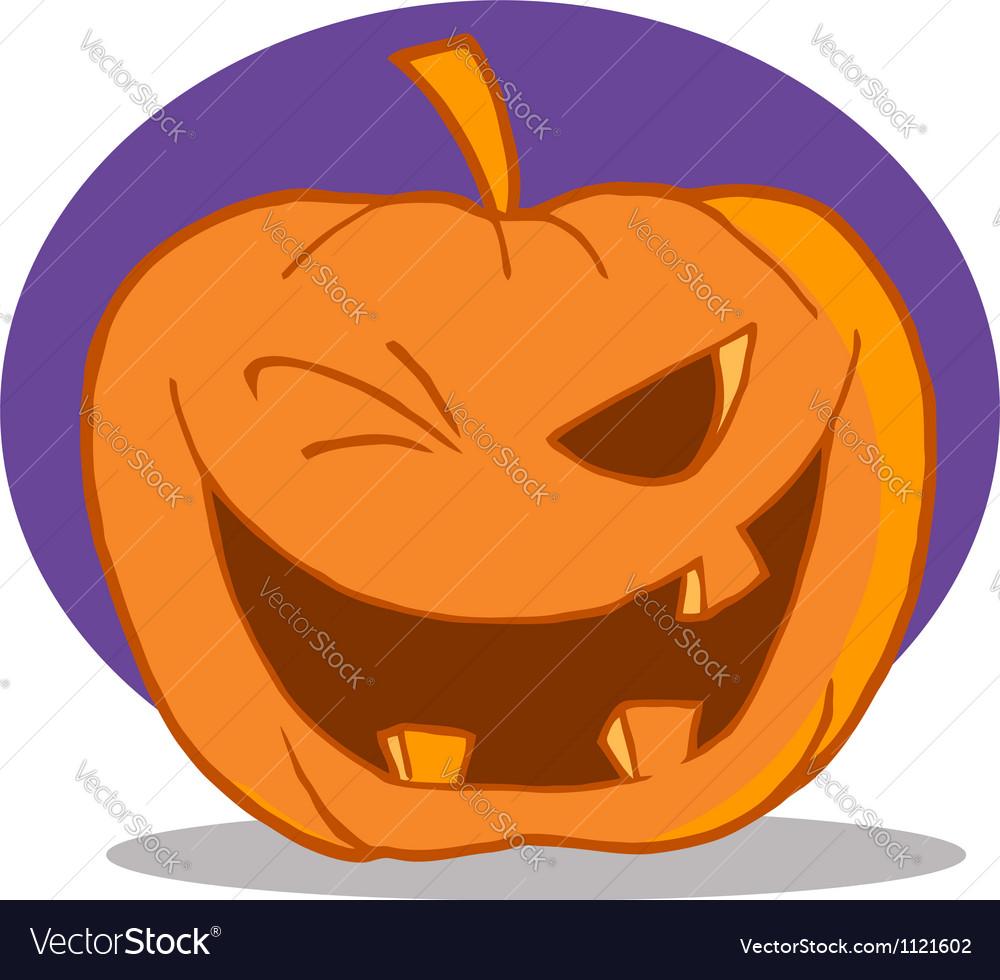 Halloween pumpkin character winking vector | Price: 1 Credit (USD $1)