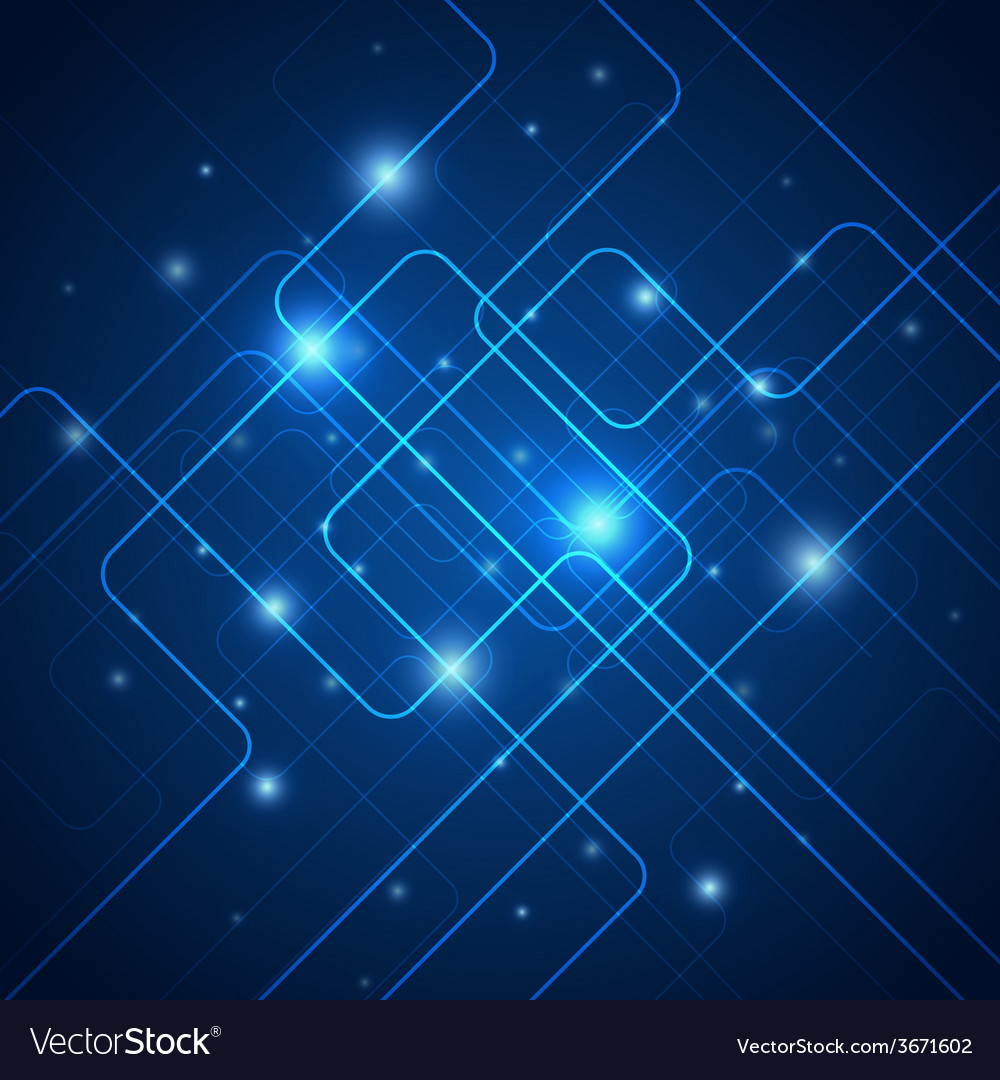 Hi-tech blue abstract vector | Price: 1 Credit (USD $1)