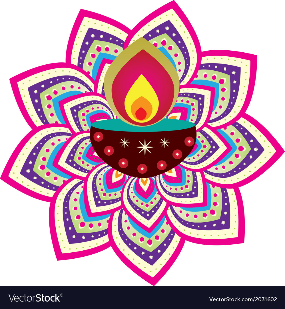 Indian floral decorative design vector | Price: 1 Credit (USD $1)