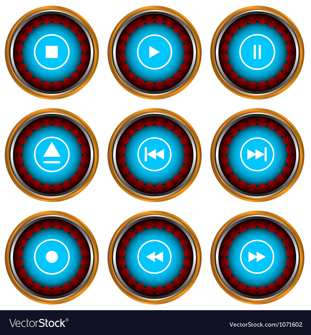 Player icons set vector | Price: 1 Credit (USD $1)