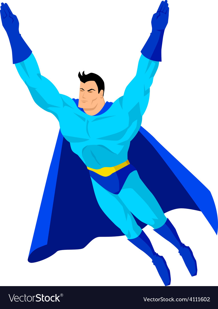 Superhero flying vector   Price: 1 Credit (USD $1)