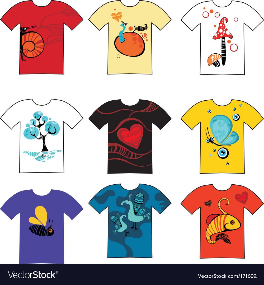 T-shirt set vector   Price: 1 Credit (USD $1)
