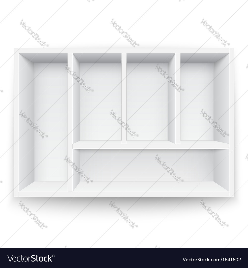 White box with separators vector | Price: 1 Credit (USD $1)