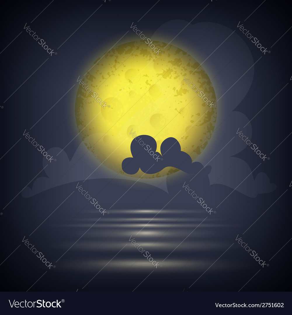 Yellow moon vector | Price: 1 Credit (USD $1)