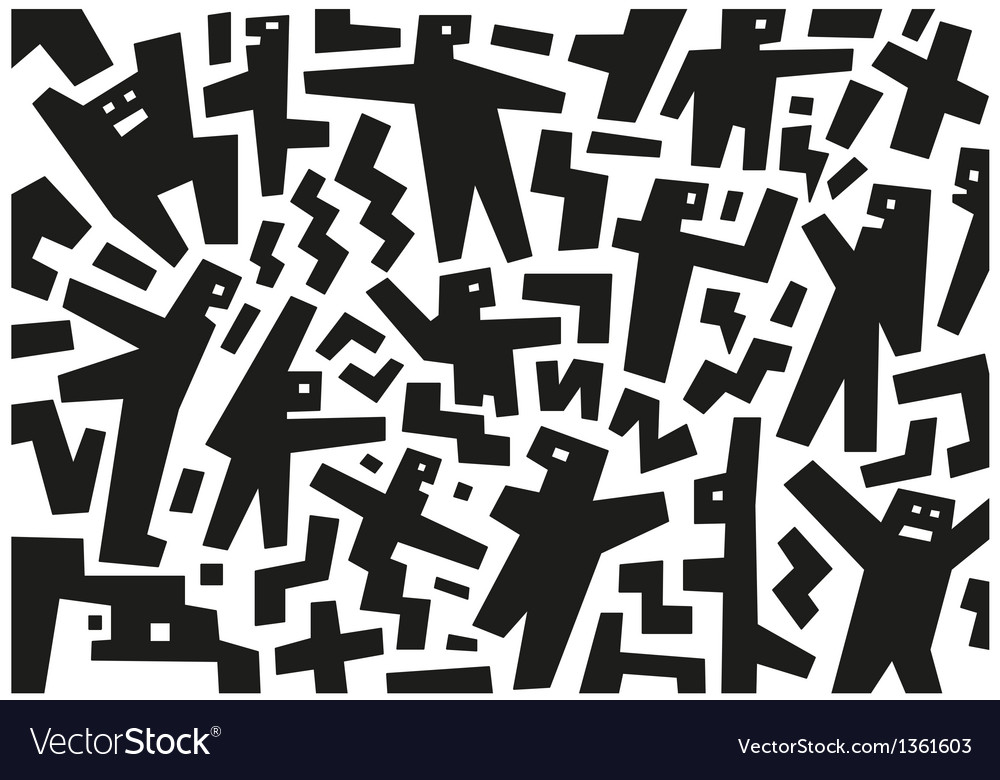 Demonstration people - abstract background vector | Price: 1 Credit (USD $1)
