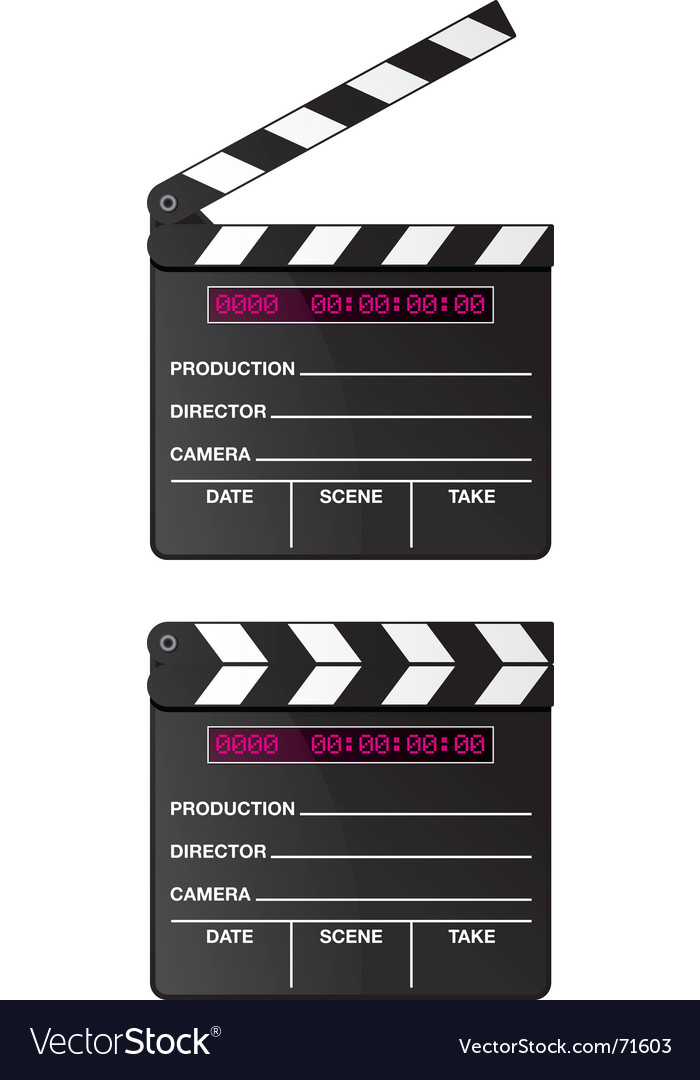 Digital movie clapper board vector | Price: 1 Credit (USD $1)