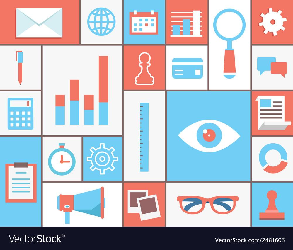 Flat concept of web analytics vector   Price: 1 Credit (USD $1)